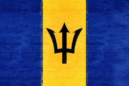 sovereignty: Illustration of the flag of Barbados Grunge