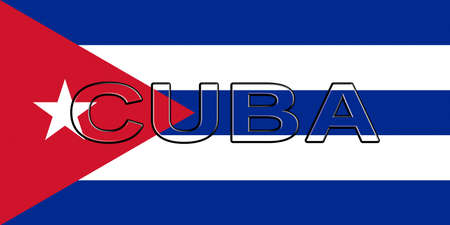 sovereignty: Illustration of the flag of Cuba with the country written on the flag