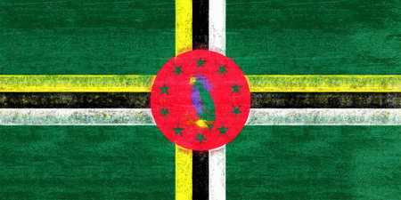 sovereignty: Illustration of the flag of Dominica with a grunge look