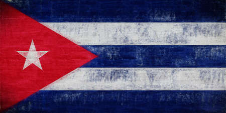 sovereignty: Illustration of the flag of Cuba with a grunge look