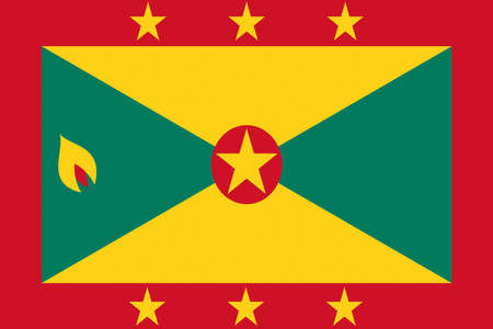grenada: Illustration of the flag of Grenada