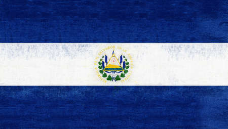 sovereignty: Illustration of the flag of El Salvador with a grunge look