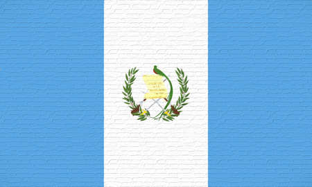 like it: Illustration of the flag of Guatemala looking like it has been painted onto a brick wall