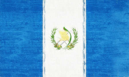 sovereignty: Illustration of the flag of Guatemala with a grunge look