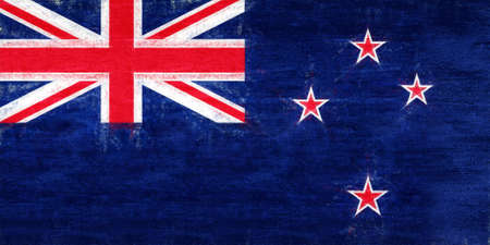 Illustration of the flag of New Zealand with a grunge look.
