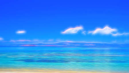 Illustration of a mystical coastal scene
