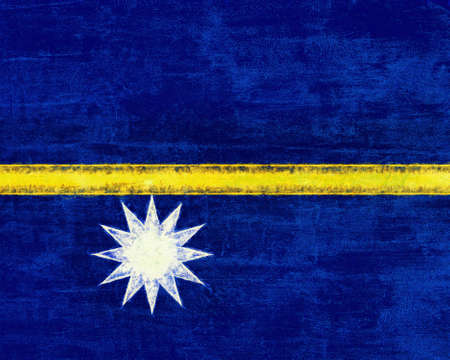 Illustration of the flag of Nauru with a grunge style