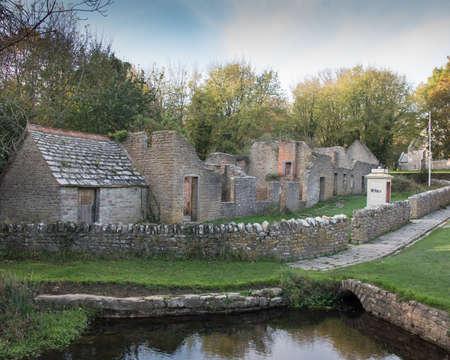 Tyneham village evacuated during the war in Dorset,UK