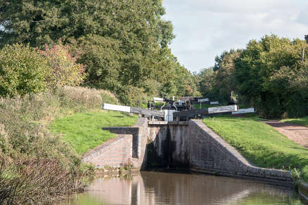 Pair of the Tardebigge canal Locks.