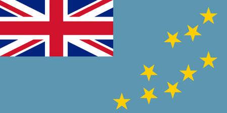 tuvalu: Illustration of the national flag of Tuvalu.