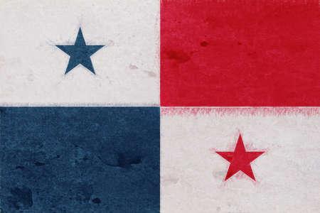 bandera de panama: Illustration of the flag of Panama with a gunge texture