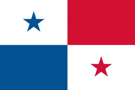 bandera de panama: Illustration of the flag of Panama Foto de archivo