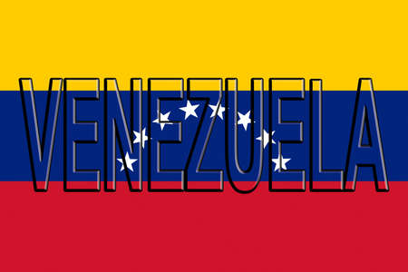 sovereignty: Illustration of the national flag of Venezuela with the country written on the flag