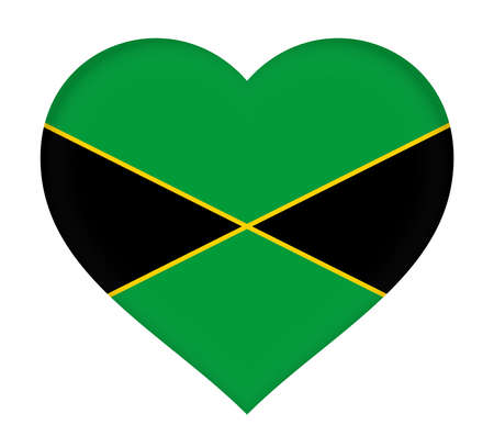 jamaican: Illustration of the national flag of Jamaica.