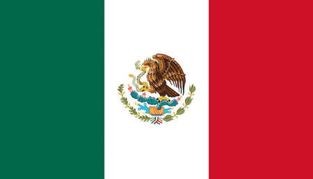 flag: Illustration of the national flag of Mexico