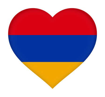 Illustration of the flag of Armenia shaped like a heart.