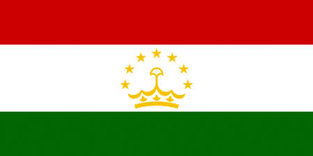 Illustration of the national flag of Tajikistan