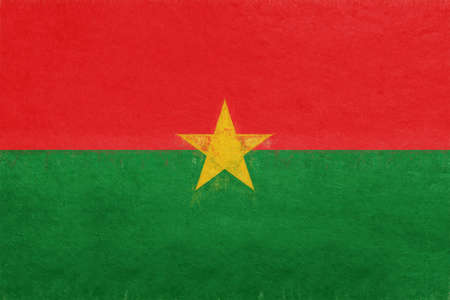 Illustration of the flag of Burkina Faso with a grunge look.