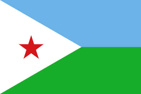 Illustration of the national flag of Djibouti Stock Photo