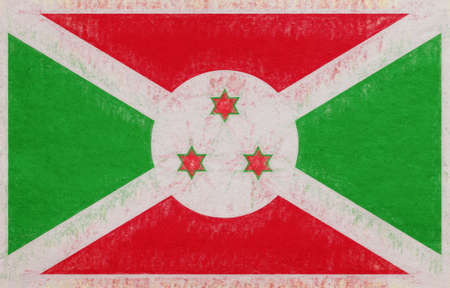 Illustration of the flag of Burundi with a grunge look. Stock Photo