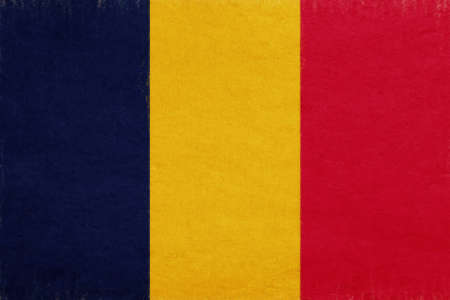 chad: Illustration of the national flag of Chad with a grunge look. Stock Photo