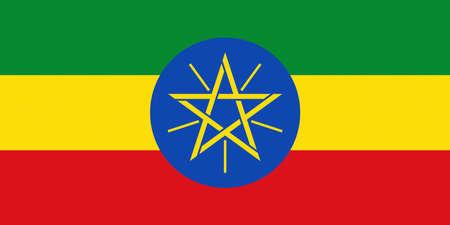 national flag ethiopia: Illustration of the national flag of Ethiopia.