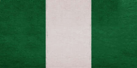 Illustration of the national flag of Nigeria with a grunge look.