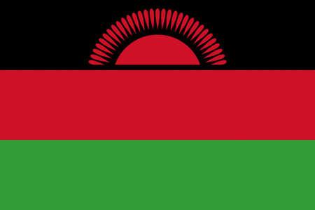 malawian flag: Illustration of the national flag of Malawi Stock Photo