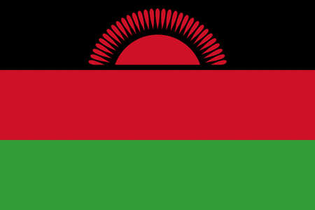 Illustration of the national flag of Malawi Stock Photo
