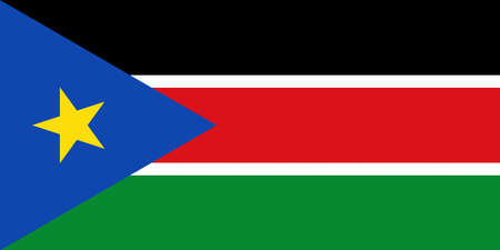 Illustration of the national flag of South Sudan Stock Photo