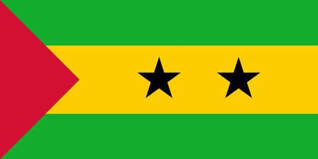 Illustration of the national flag of Sao Tome and Principe