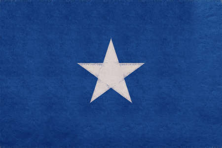 Illustration of the national flag of Somalia with a grunge look. Stock Photo