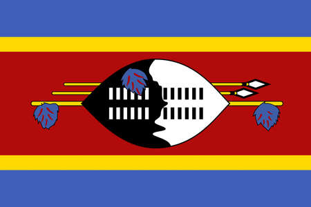 Illustration of the national flag of Swaziland