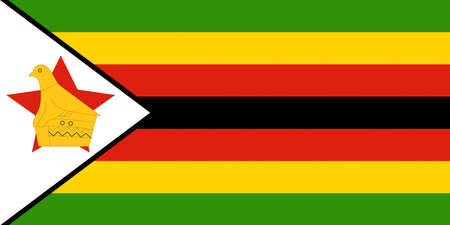 Illustration of the national flag of Zimbabwe