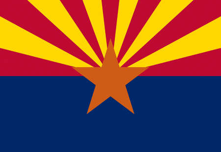 Illustration of the flag of Arizona state in America