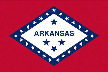 Illustration of the flag of Arkansas state in America