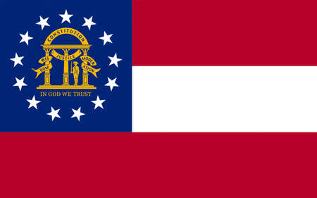 Illustration of the flag of Georgia state in America
