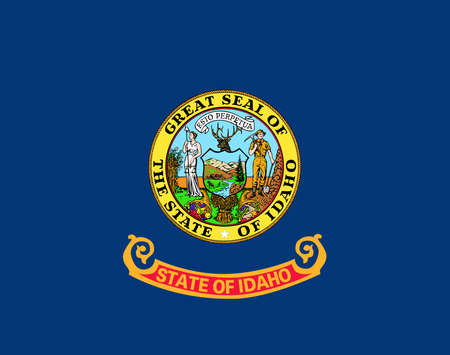 Illustration of the flag of Idaho state in America