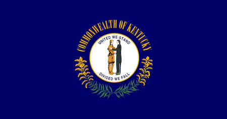 Illustration of the flag of Kentucky state in America