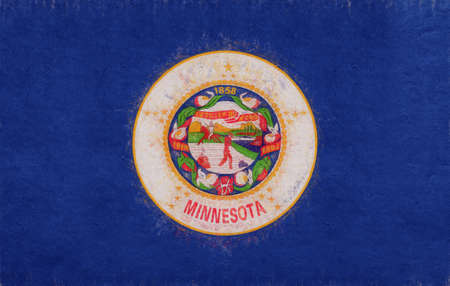 sovereignty: Illustration of the flag of Minnesota state in America with a grunge look.