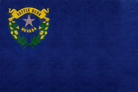 Illustration of the flag of Nevada state in America with a grunge look.