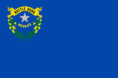 Illustration of the flag of Nevada state in America Stock Photo