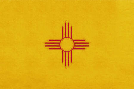 Illustration of the flag of New Mexico state in America with a grunge look.