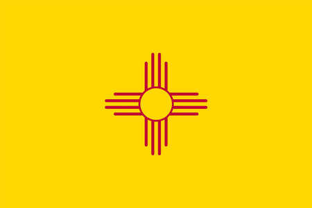 Illustration of the flag of New Mexico state in America