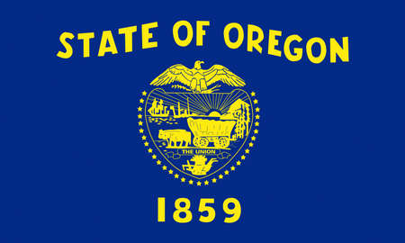 Illustration of the flag of Oregon state in America Stok Fotoğraf