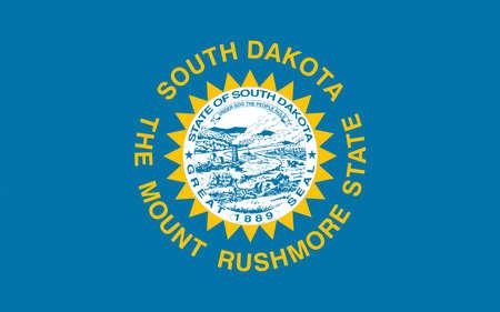 Illustration of the flag of South Dakota state in America Stock Photo