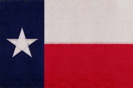 Illustration of the flag of Texas state in America with a grunge look. Stok Fotoğraf