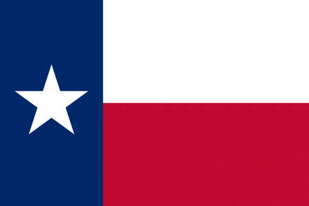 Illustration of the flag of Texas state in America