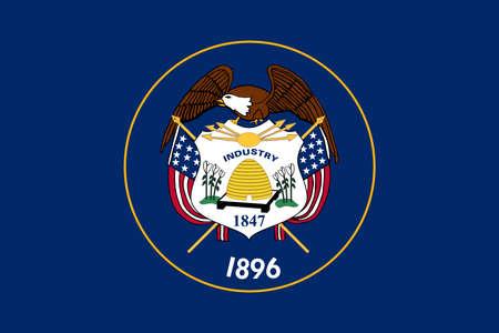 アメリカのユタ州の旗のイラスト 写真素材