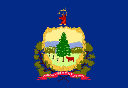 Illustration of the flag of Vermont state in America